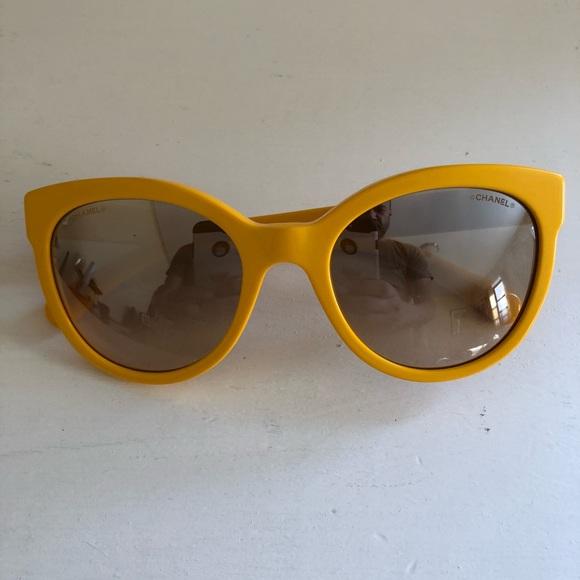 5c05508e30ad CHANEL Accessories - Amazing looking Chanel yellow sunglasses